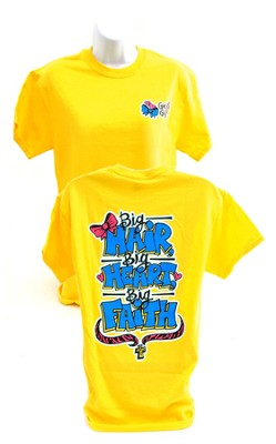 Girly Grace Big Hair Shirt, Yellow  Large  -