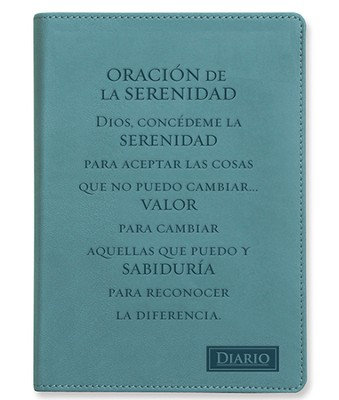 Oración De La Serenidad, Diario Piel Imitada  (Serenity Prayer, Lux-Leather Journal)  -