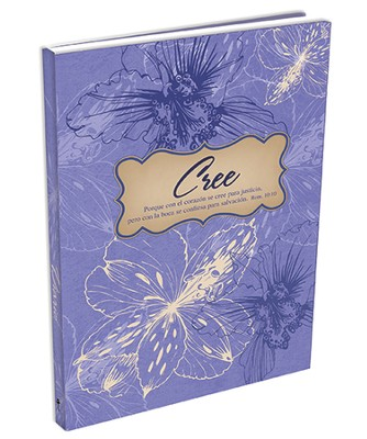 Cree, Diario Encuadernación Dura, Morado  (Believe Hardcover Journal, Purple)  -
