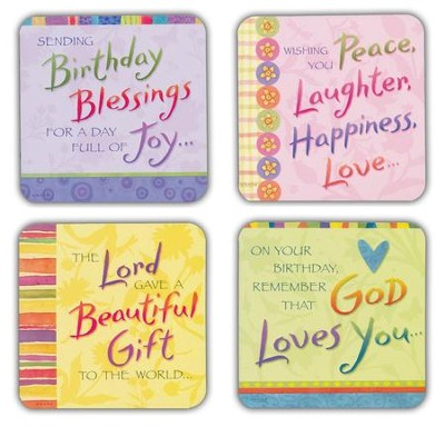Birthday Blessings Cards, Box of 16  -     By: Tina Wenke