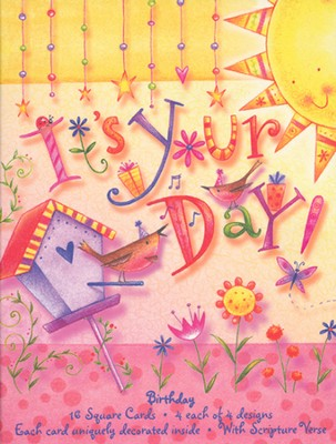 It's Your Day Birthday Cards, Box of 16  -     By: Tina Wenke