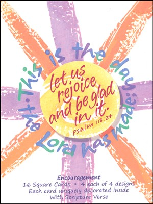 Praise The Lord Encouragement Cards, Box of 16  -