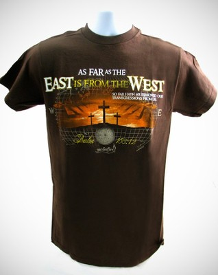 East West Shirt, Brown, Large  -