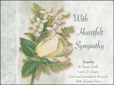 White Floral Sympathy Cards, Box of 16  -     By: Thomas Cathey