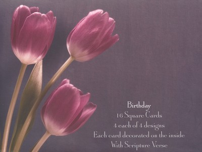Tulips Birthday Cards, Box of 16  -     By: Marc Duke