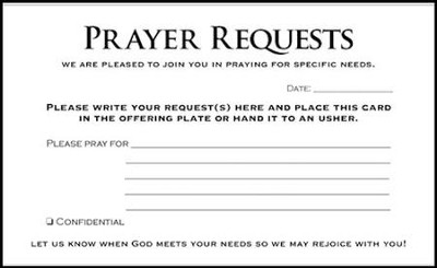 Prayer Request Cards, 50   -