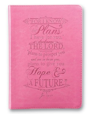For I Know the Plans I Have For You, LuxLeather Journal, Pink  -