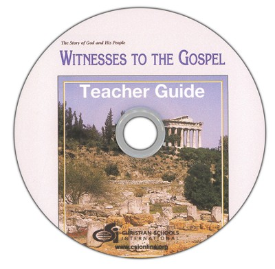 Witnesses to the Gospel Teacher's Guide & Black Line Master DVD-ROM  -
