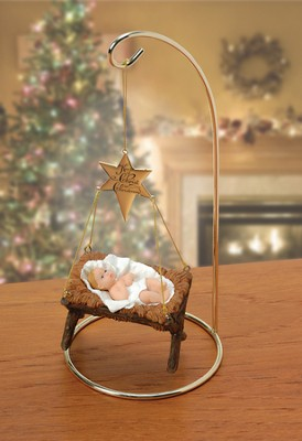 Keeping Christ in Christmas, Hanging Manger with Stand   -