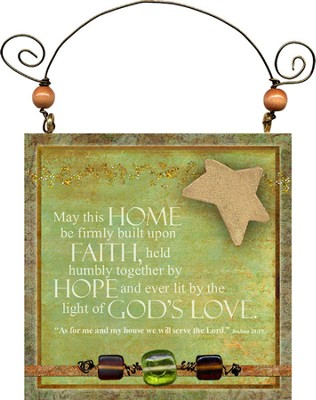 May This Home Be Firmly Built Plaque  -