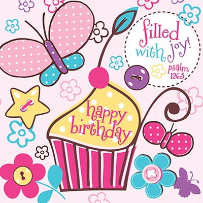 Happy Birthday, Cupcake Napkins, Pack of 20  -