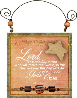 Lord Bless this Tiny Infant Plaque  -