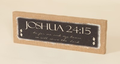 As For Me and My House, Joshua 24:15, Burlap Framed Art  -