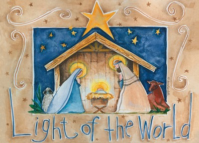 Light of the World Christmas Cards, Box of 12  -