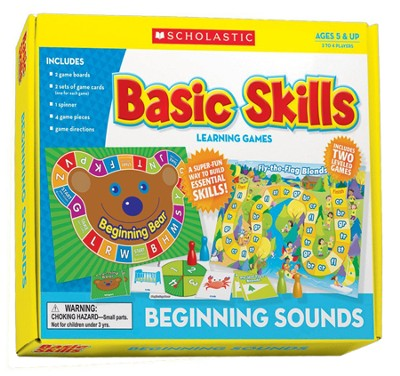 Beginning Sounds Basic Skills Board Games  -