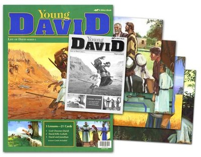 Bible Ventures Middler (grades 3-4) Young David Flash-a-Card Set (Spring Quarter)  -
