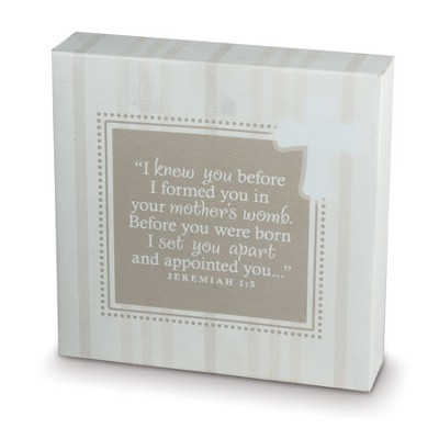 I Knew You Before I Formed You Canvas Print  -