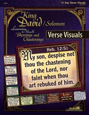 King David/Solomon: Learning to Handle Blessings and  Chastenings Adult Bible Study Key Verse Visuals  -
