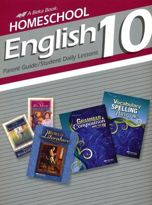 Homeschool English 10 Parent Guide/Student Daily Lessons  -