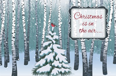 Christmas is in the Air,   Box of 20 Christmas Cards  -