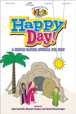 Happy Day! A Simple Easter Musical for Kids, Choral Book    -