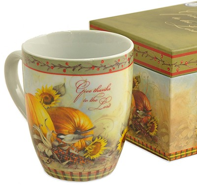 Give Thanks To The Lord, Mug With Keepsake Box   -     By: Sandy Clough