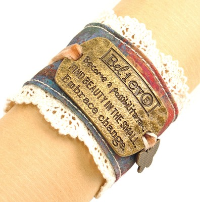 Believe Cuff Bracelet  -     By: Kelly Rae Roberts