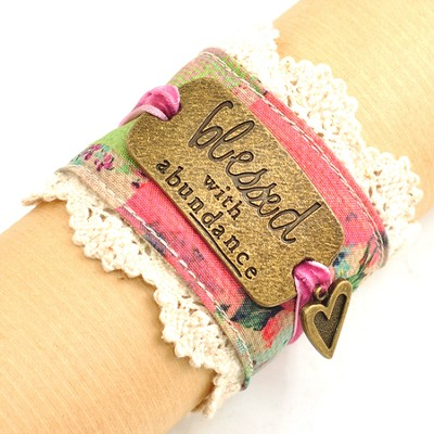 Blessed With Abundance Cuff Bracelet  -     By: Kelly Rae Roberts