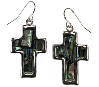 Shell Cross Earrings  -
