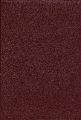 NAS Wide Margin Bible, Bonded leather, Burgundy              -
