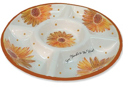 Give Thanks To the Lord! Chip and Dip Plate  -