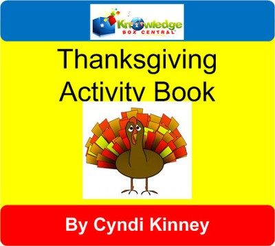 Thanksgiving Turkey Talk Activity Book - PDF Download  [Download] -     By: Cyndi Kinney