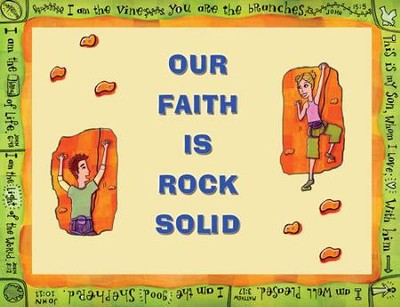 Instant Bulletin Board - Our Faith is Rock Solid - PDF Download  [Download] -     By: Legacy Press