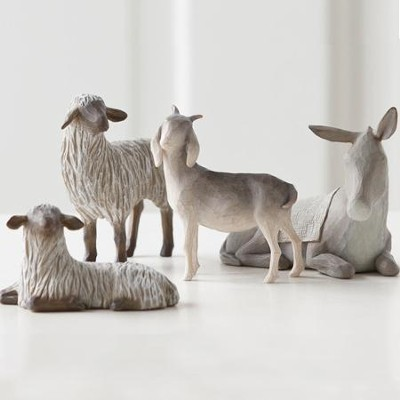 Willow Tree &#174 The Holy Family Nativity Sheltering Animals  -     By: Susan Lordi