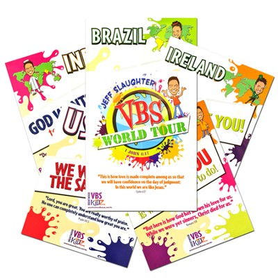 Jeff Slaughter VBS World Tour:  VBS Theme Poster (Set of 6)  -