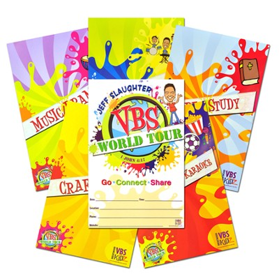 Jeff Slaughter VBS World Tour VBS Station/Promotional Poster (Set of 5)  -