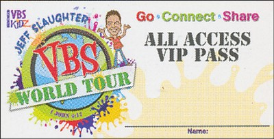Jeff Slaughter VBS World Tour: VBS Name Badge Stickers  -