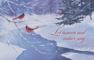 Let Heaven And Nature Sing, Box of 20 Christmas Cards   -