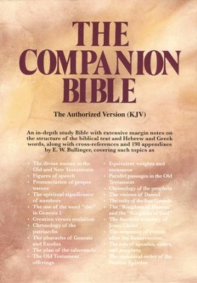 KJV Companion Bible, Hardcover   -     Edited By: E.W. Bullinger