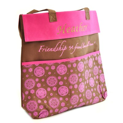 Personalized, A Friend Loves at All Times Tote   -