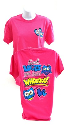 Girly Grace Owl Shirt, Pink,  Extra Large  -