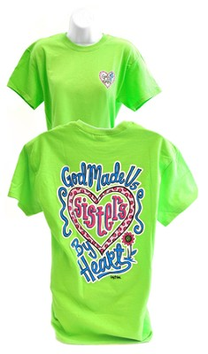 Girly Grace Sisters Shirt, Lime,  Large  -