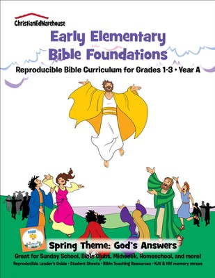 Bible Foundations Curriculum Grades 1-3 Spring, Year A - PDF Download  [Download] -     By: Christian Ed Publishers