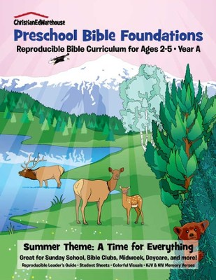 Bible Foundations Curriculum Ages 2-5 Summer, Year A - PDF Download  [Download] -     By: Christian Ed Publishers