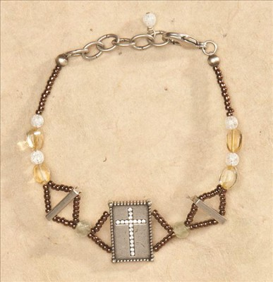 Sparkle Cross Bracelet  -