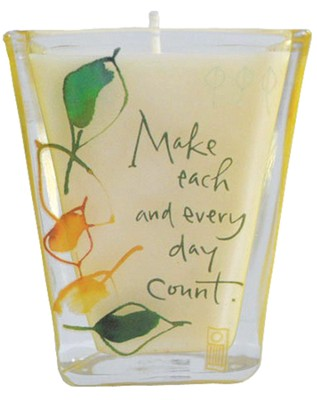 Make Each and Every Day Count Votive Candle   -     By: Kathy Davis