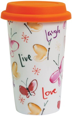 Live, Laugh, Love Travel Mug  -     By: Kathy Davis