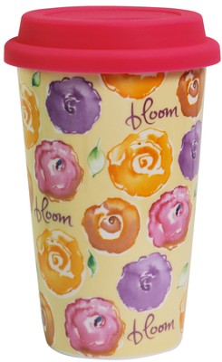 Bloom Travel Mug  -     By: Kathy Davis