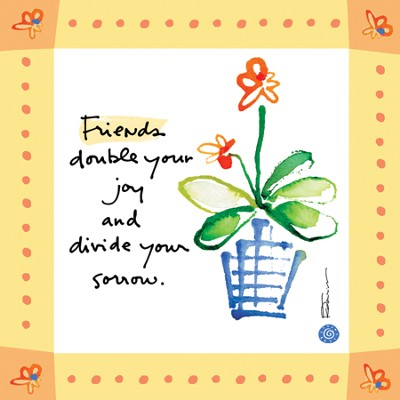 Friends Double Your Joy Print  -     By: Kathy Davis