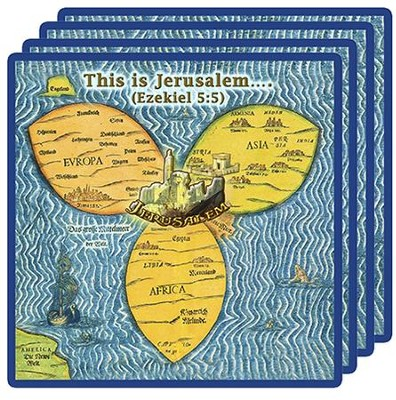 Jerusalem Center Coasters, Set of Four   -